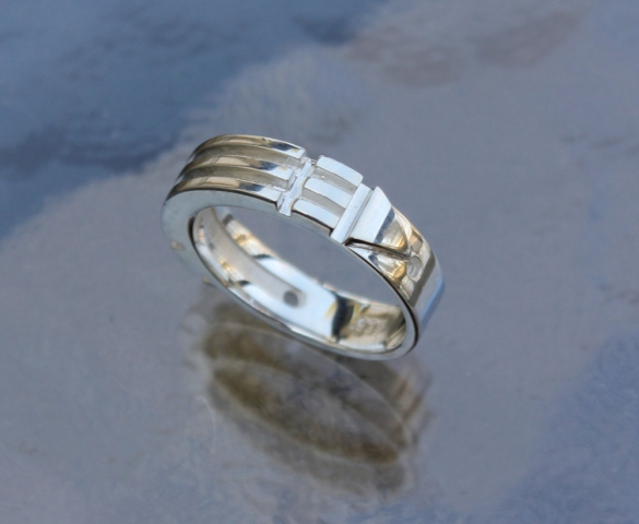 Atlantis Ring Silver Slim