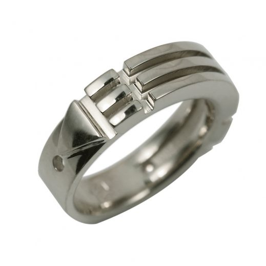 Atlantis Ring White Gold Slim