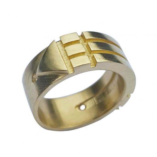 Orichalcum Brass Atlantis Ring
