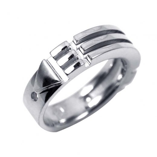 Atlantis Ring Slim Platinum
