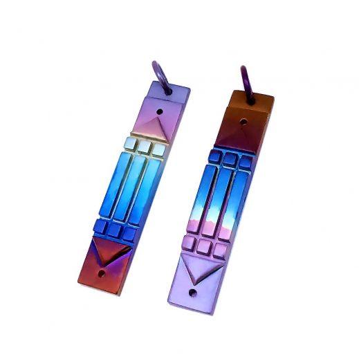 Rainbow Aura Titanium Pendant