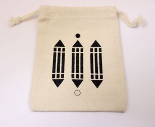 New Atlantis Ring cotton pouch with triple luxor  symbol